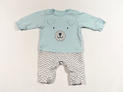 M&S Up to 1 month Teddy Bear All-in-one Sleepsuit Romper