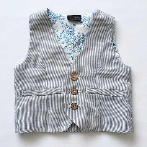 Next 6-9 months Pinstripe Waistcoat