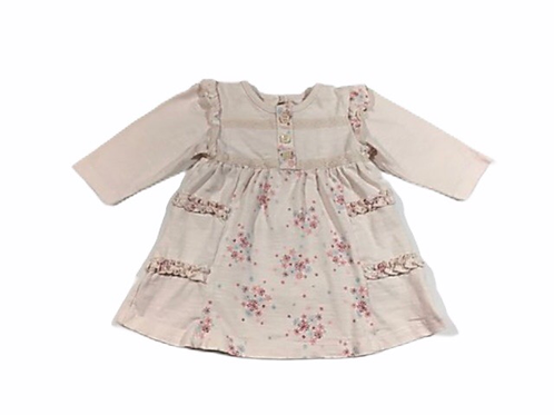 George 0-3 months Pale Pink Floral Ruffle Dress
