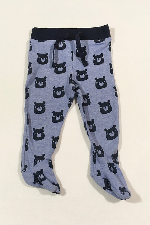 F&F 3-6 months Teddy Bear Trousers with Feet