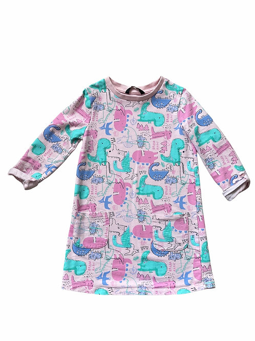 George 4-5 years Dinosaur Sweatshirt Dress