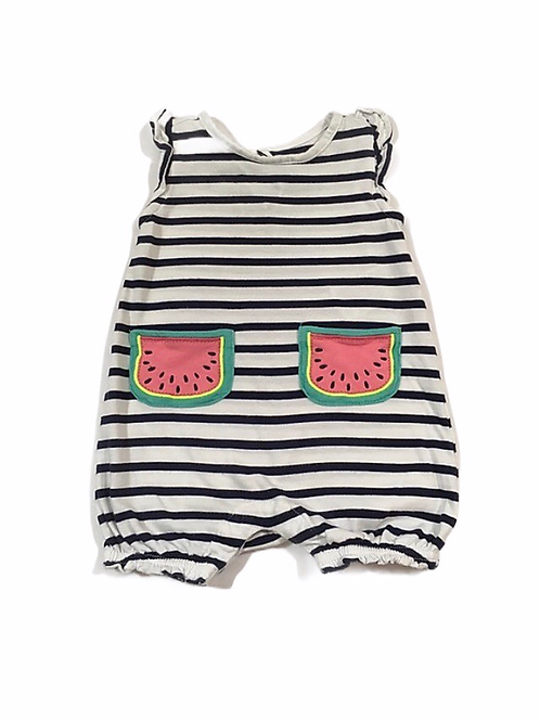 Baby Gap 3-6 months Striped Watermelon Romper