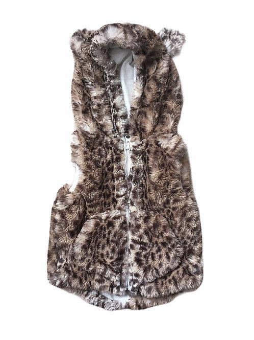 Next 6-9 months Leopard Print Fur Gilet Bodywarmer