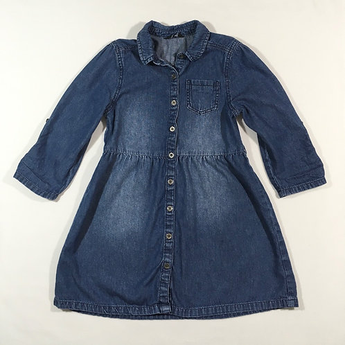 George 8-9 years Long Sleeve Denim Dress (Sleeves can be buttoned up as 3/4)