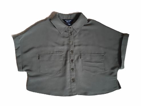 New Look 10 years Khaki Cropped Shirt