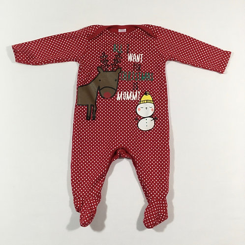 Boots Mini Club 3-6 months 'All I want for Christmas is Mummy' Sleepsuit