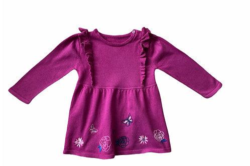Nutmeg 9-12 months Knitted Long Sleeve Dress