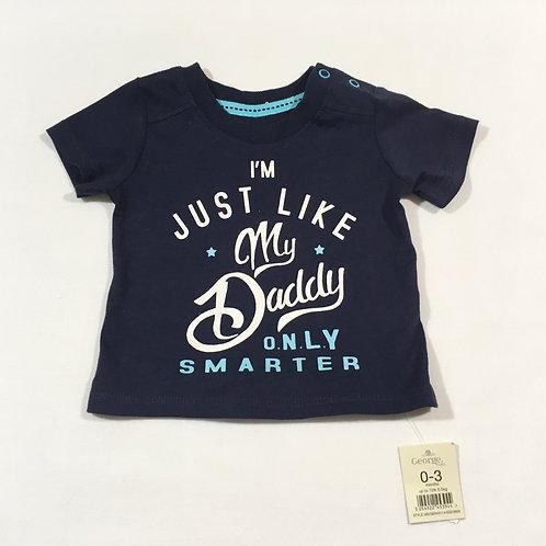 George 0-3 months Navy Daddy T-shirt - BRAND NEW