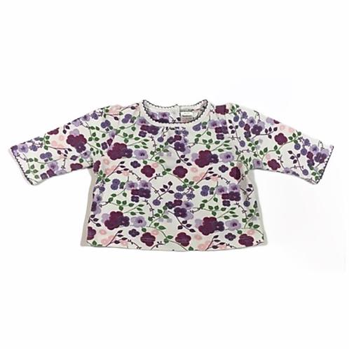 Boots Mini Club Newborn Purple Floral Long Sleeve Top