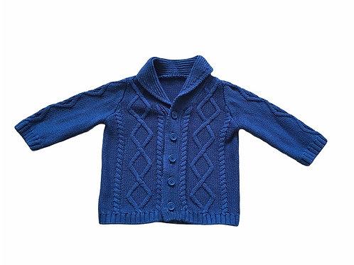 Matalan 6-9 months Navy Cable Knit Cardigan
