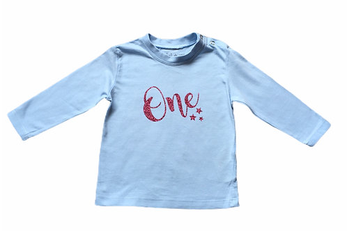 Rocket & Rose 6-12 months 'One' Birthday Long Sleeve Top