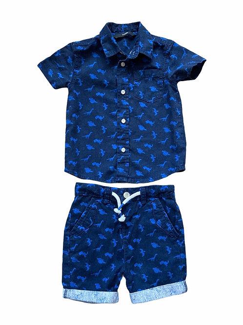 George 1.5-2 years Dinosaur Shirt and Shorts Set