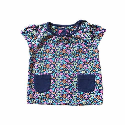 TU 9-12 months Floral T-shirt with Pockets