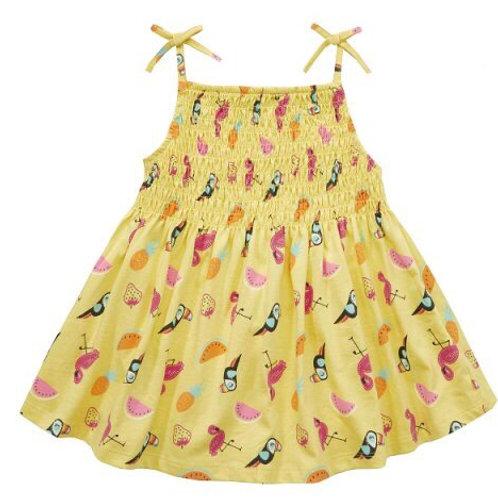 Mini Kidz 7-8 years Yellow Tropical Dress - BRAND NEW