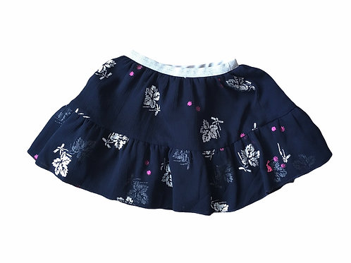 Joules 2 years Navy and Silver Layered Floral Skirt Skirt