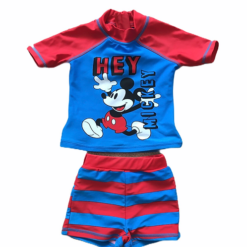 Disney Baby 9-12 months Mickey Mouse Swimming Top and Shorts
