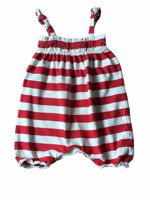Next 3-6 months Red and White Romper