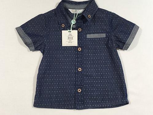 M&Co. 6-9 months Blue Short Sleeve Shirt - BRAND NEW