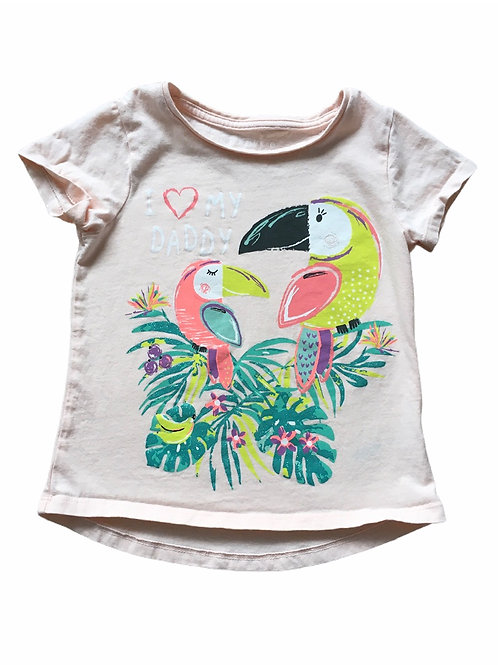 Nutmeg 4-5 years Pink 'I Love My Daddy' Parrot T-Shirt