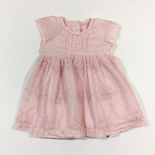 TU 6-9 months Pink Floral Detail Dress