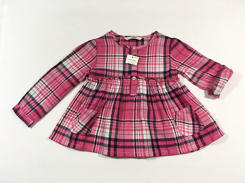George 1.5-2 years Pink Check Long Sleeve Dress - BRAND NEW