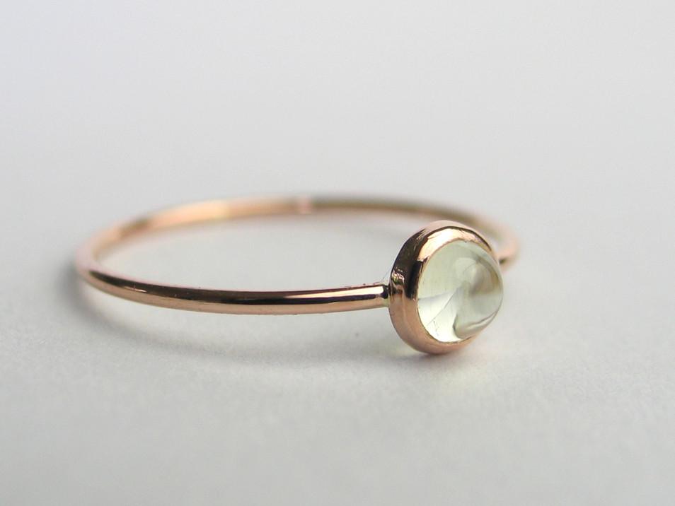 Roségold Ring mit Beryll