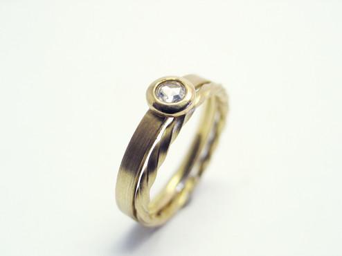 Verlobungsring, Diamantrose und Vorsteckring