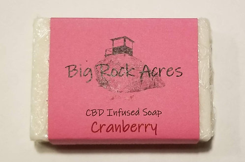 CBD infused Cranberry Soap