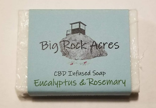 CBD infused Eucalyptus and Rosemary Soap