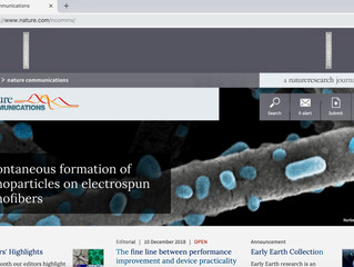 Nature Communications highlighting our paper on their main website!