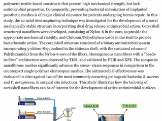 Electrospinning for the prevention of mesh-associated surgical site infection