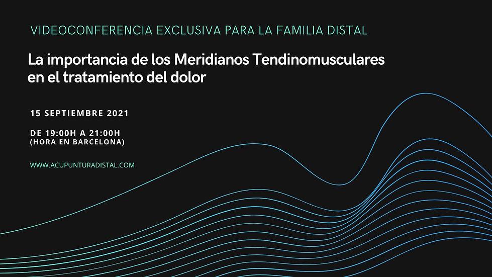 Familia Distal meridianos tendinomuscula