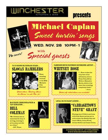 """Sweet Hurtin' Songs"", Winchester Bar, 2012"