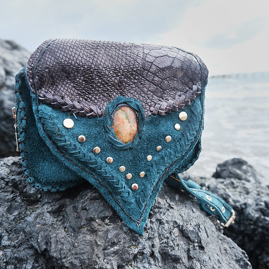 Mermaid High Waisted Beltbag with Sunstone