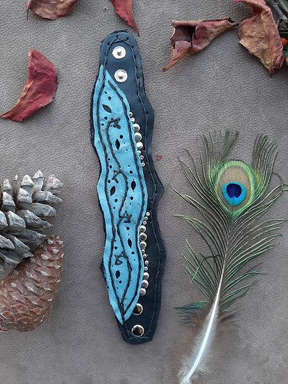 Blue& Black Handmade Embroidery Bracelet