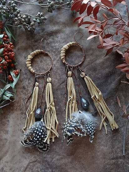 Crescent Pale Yellow Earring