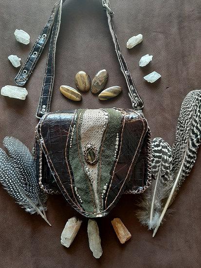 Belt& Waist bag, Brown