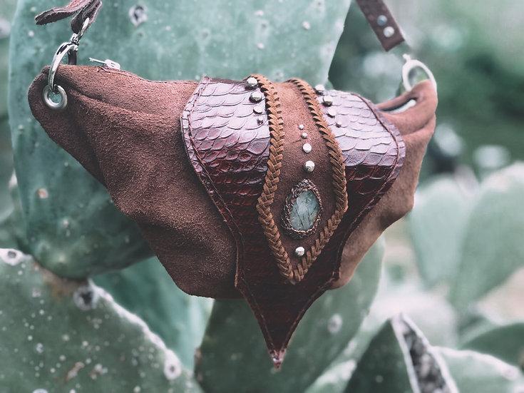 Brown Belt& Waist Bag