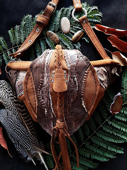 Brown Whip Detailed Bag