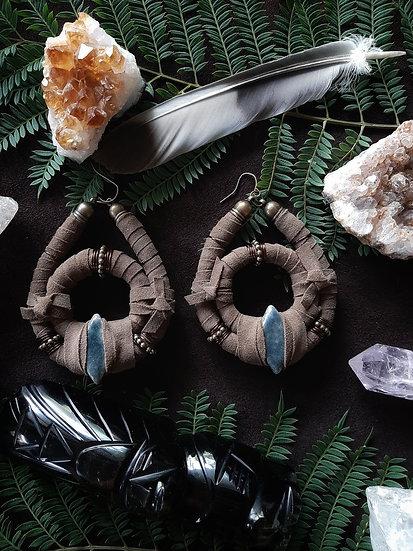 Brown Tribal Earring
