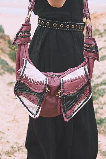 Shoulder Bag Dusty Pink Bruised Leather
