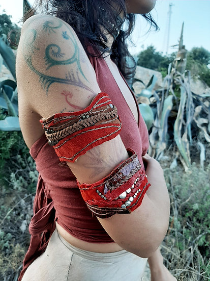 Red Suede Armlet
