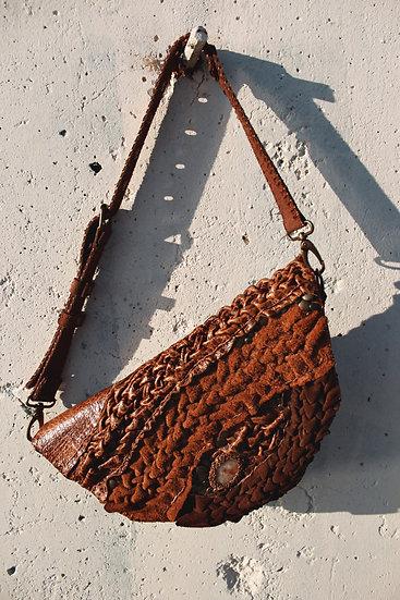 Smocking Leather Shoulder Bag