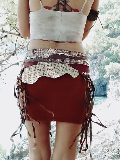 Maroon and Tan Belt