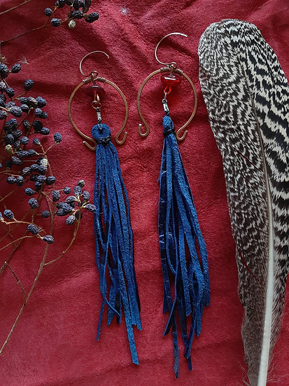 Blue Tassel with Glass Beads