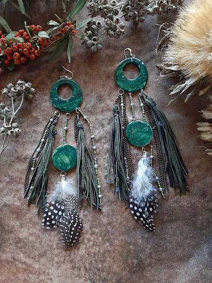 Pickle Green Tasseled Earring