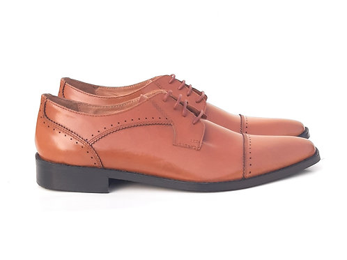 Dyecode Craft's Tan Toe Cap Derby