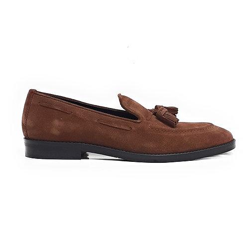 Edwin Tassle Loafers Chestnut Brown