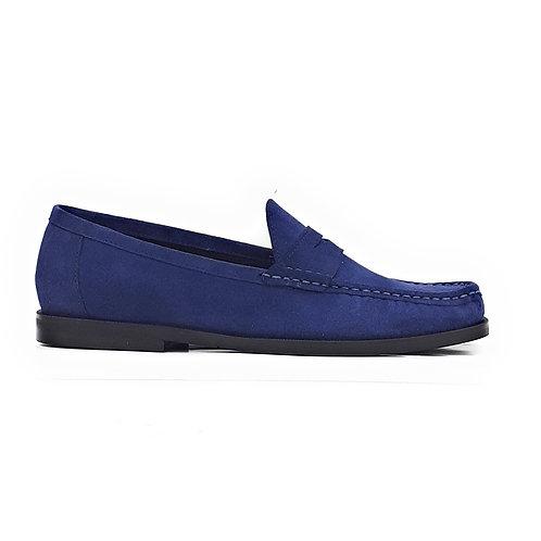 Fenix Handstiched Moccasins Navy Blue