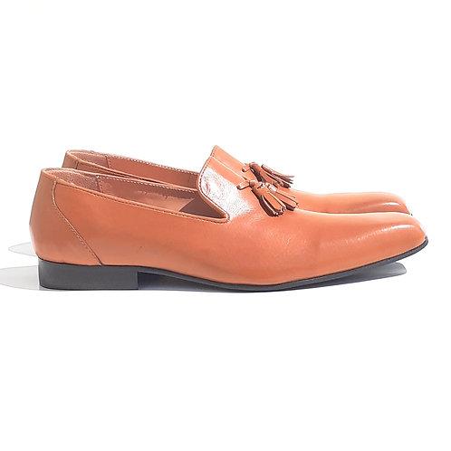 Le Okera Tassle Loafers Tan